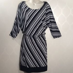 🆕WHBM STRIPED BLOUSON DRESS